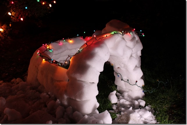 Christmas decorating contest, lights and snow