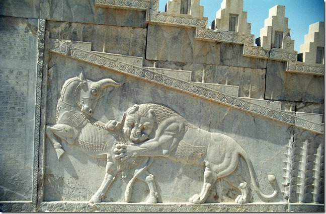 Relief in Persepolis, of spring slaying winter?