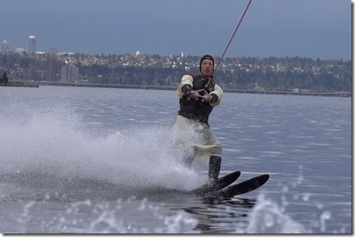 It's a Jesus costume over a wet suit. Any questions?