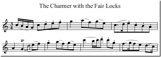 """The Charmer with the Fair Locks"" sheet music"