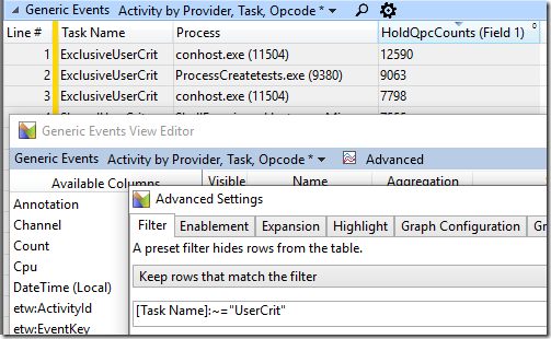 Nested WPA configuration dialogs