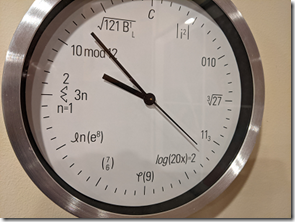 A geeky clock