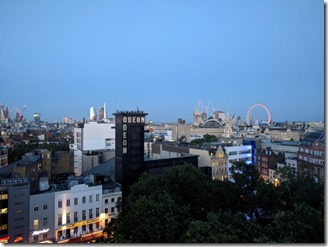 View from Hotel Indigo rooftop bar, Leicester Square